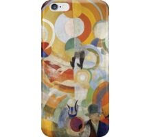 Robert Delaunay - Carousel With Pigs . Abstract painting: abstraction, geometric, expressionism, composition, lines, forms,  Pig , Carousel , music, kaleidoscope, fantasy future iPhone Case/Skin