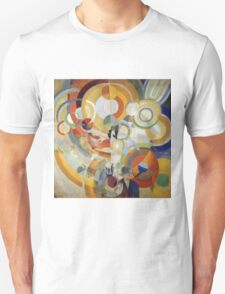 Robert Delaunay - Carousel With Pigs . Abstract painting: abstraction, geometric, expressionism, composition, lines, forms,  Pig , Carousel , music, kaleidoscope, fantasy future Unisex T-Shirt