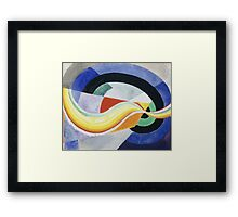 Robert Delaunay - Propeller. Abstract painting: abstraction, geometric, expressionism, composition, lines, forms, creative fusion, music, kaleidoscope, illusion, fantasy future Framed Print