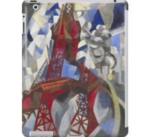 Robert Delaunay - Red Eiffel Tower (La Tour Rouge). Abstract painting: Eiffel, Tower , Tour , composition, lines, forms, creative fusion, music, kaleidoscope, illusion, fantasy future iPad Case/Skin
