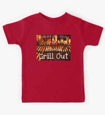 T4 3rd annual bbq grill out Kids Tee