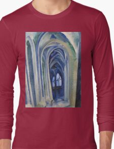 Robert Delaunay - Saint-Severin. Abstract painting: abstraction, geometric, expressionism, composition, lines, forms, creative fusion, music, kaleidoscope, illusion, fantasy future Long Sleeve T-Shirt