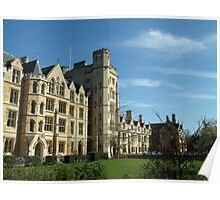 Oxford New College in Spring Poster