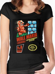 Wall Maria Entertainment System Women's Fitted Scoop T-Shirt
