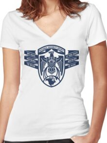 NSA Nothing To Hear Women's Fitted V-Neck T-Shirt