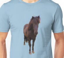 Icelandic horse on serenity blue background Unisex T-Shirt