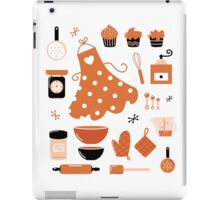 Black and orange retro baking set iPad Case/Skin