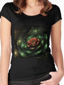 Breathe - Abstract Fractal Artwork Women's Fitted Scoop T-Shirt