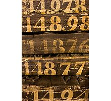 Vintage letters background Photographic Print