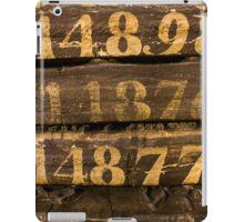 Vintage letters background iPad Case/Skin