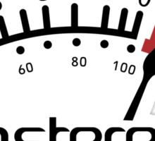 InStereo Meter (black over white) Sticker