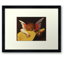 Rosso Fiorentino - Musical Angel 1522. Child portrait: cute baby, kid, children, angel, child, kids, lovely family, boys and girls, boy and girl, mom mum mammy mam, childhood Framed Print