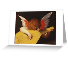 Rosso Fiorentino - Musical Angel 1522. Child portrait: cute baby, kid, children, angel, child, kids, lovely family, boys and girls, boy and girl, mom mum mammy mam, childhood Greeting Card