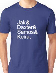 Jak & Daxter & Samos & Keira.  Unisex T-Shirt