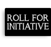 Roll for Initiative (Black) Canvas Print