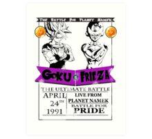 DBZ - Goku Vs Frieza Art Print