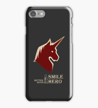 A Smile Better Suits A Hero iPhone Case/Skin