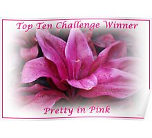 Pretty in Pink Top Ten Challenge Winner Banner Poster
