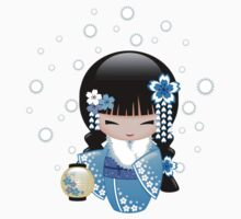 Winter Kokeshi Doll V2 Kids Tee