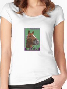 Believe in California Chrome Women's Fitted Scoop T-Shirt