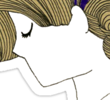 Purple girl Sticker