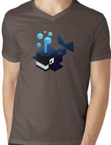 Poly Poly Whale Mens V-Neck T-Shirt