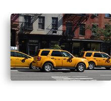 Taxi Cabs Canvas Print