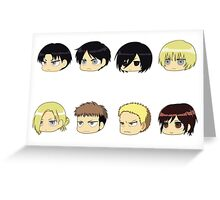 Attack on titan Chibi Greeting Card