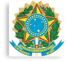 Brazilian Coat of Arms Canvas Print