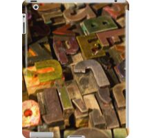 Antique wood letterpress printing blocks with color ink patina iPad Case/Skin