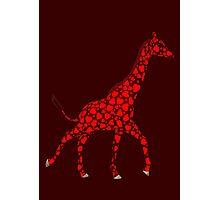 Weird Red Giraffe Photographic Print