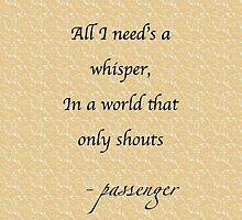 Passenger - Whispers lyrics by musaique