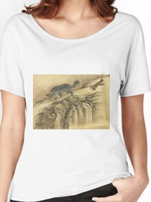 Shen Nanpin - Album Of Birds And Animals (Qilin). Forest view: forest , trees,  fauna, nature, birds, animals, flora, flowers, plants, field, weekend Women's Relaxed Fit T-Shirt