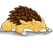 Sleeping Sandslash by Jaylynessa