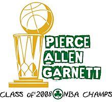 Pierce & Allen & Garnett - Boston Celtics 2008 Champions Photographic Print