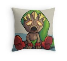 Deku Link from Majoras Mask Throw Pillow