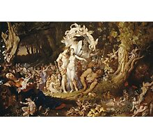 Sir Joseph Noel Paton - The Reconciliation Of Oberon And Titania. Fairy painting: fairy, fairies, nymph, nymphs, child, baby , dwarves, dwarf , elf , elves, goblin  Photographic Print