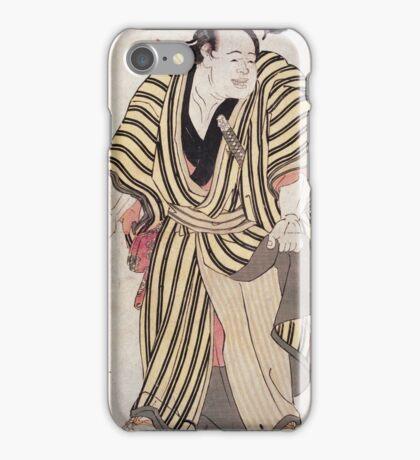 Sumo-E  Ukiyo - Prints Of Sumo Wrestler Kashiwado Sogoro 1762. Man portrait: man,  people,  sport,  sumo,  traditional,  wrestler,  wrestling,  fat,  overweight,  rice,  sport iPhone Case/Skin