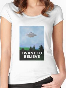 Planet X Files Women's Fitted Scoop T-Shirt