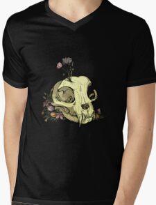 Little Skull Colour Mens V-Neck T-Shirt