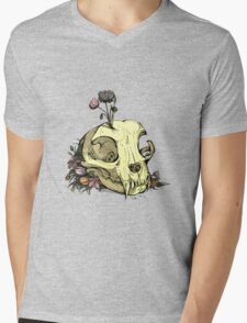 Little Skull Colour Mens V-Neck T-Shirt