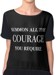Summon All The Courage You Require (White) Chiffon Top