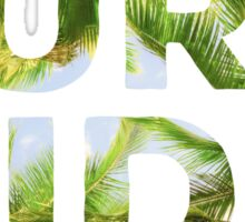 Pura Vida Costa Rica Palm Trees Sticker