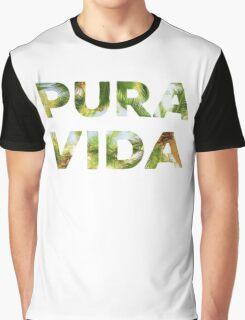 Pura Vida Costa Rica Palm Trees Graphic T-Shirt