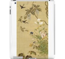 Suzuki Kiitsu - Birds And Flowers. Forest view: forest , trees,  fauna, nature, birds, animals, flora, flowers, plants, field, weekend iPad Case/Skin