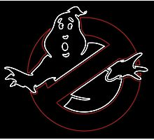 °MOVIES° GhostBusters Neon LOGO Photographic Print