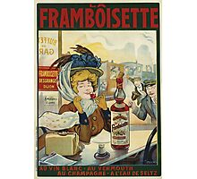 Tamagno - Framboisette Poster. Cafe view: drinking and eating party, woman and man, people, family, female and male, peasants, cafe, romance, women and men, restaurant, food Photographic Print