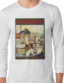 Tamagno - Framboisette Poster. Cafe view: drinking and eating party, woman and man, people, family, female and male, peasants, cafe, romance, women and men, restaurant, food Long Sleeve T-Shirt