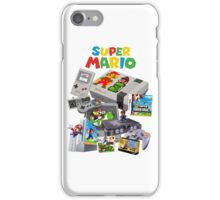 Super Mario Evolution, includes most consoles and mario figures iPhone Case/Skin