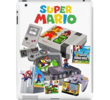 Super Mario Evolution, includes most consoles and mario figures iPad Case/Skin
